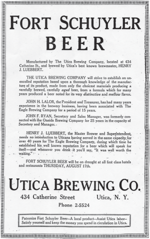 Utica Beer: A History of Brewing in the Mohawk Valley by